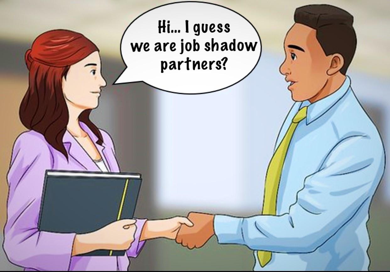 Hi I guess we are job shadow partners